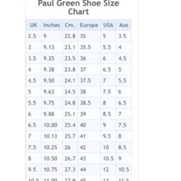 paul green size chart off 62% - shuder.org